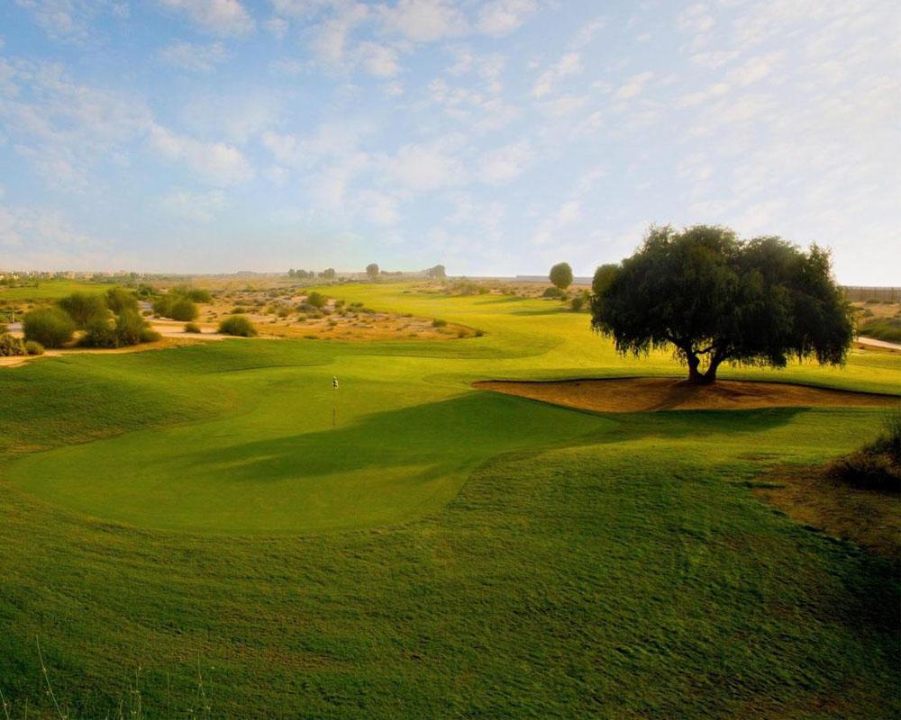 Arabian Ranches Golf Course by Desert Landscape
