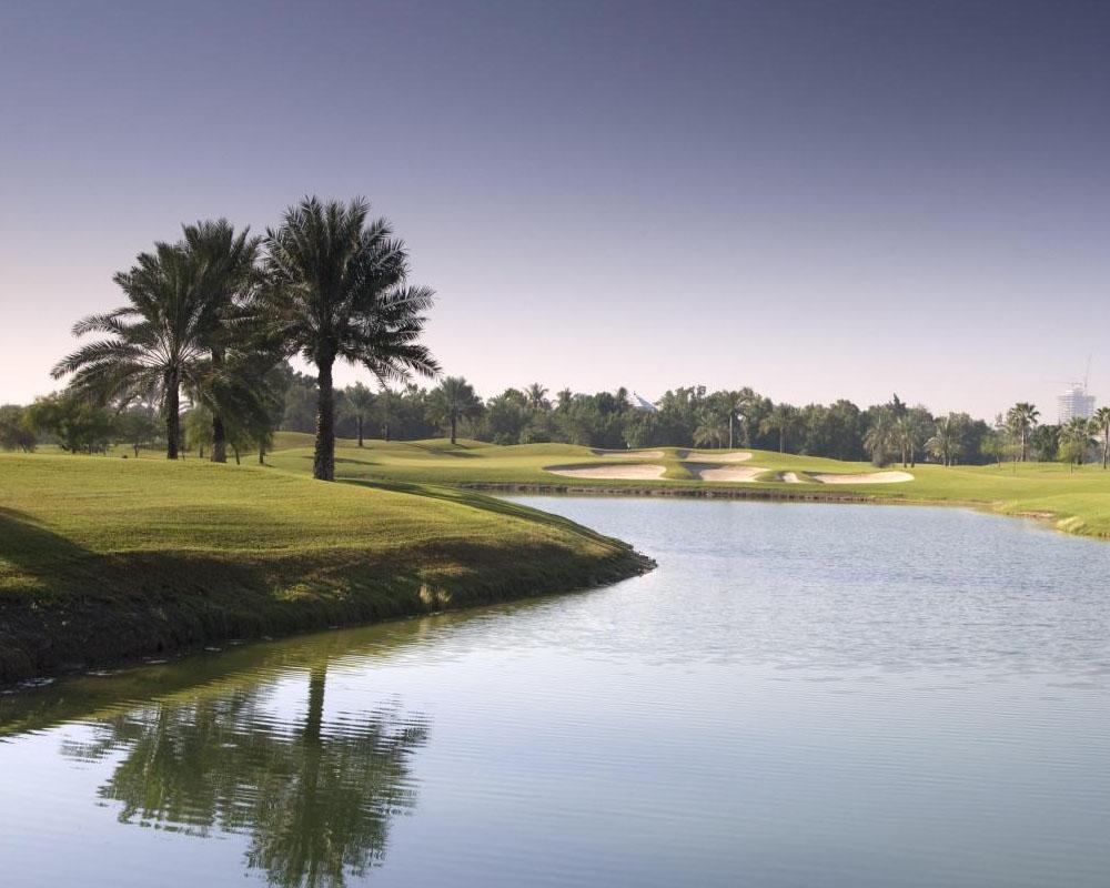 Emirates Golf Club by Desert Landscape