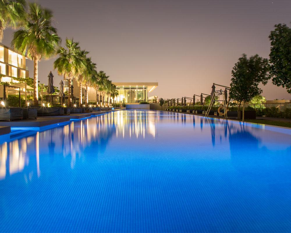Swimming Pool by Desert Landscape